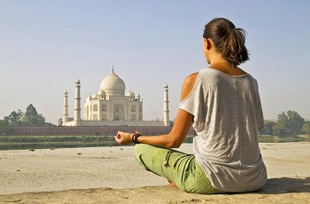 Yoga Sessions facing Taj Mahal with certified trainer